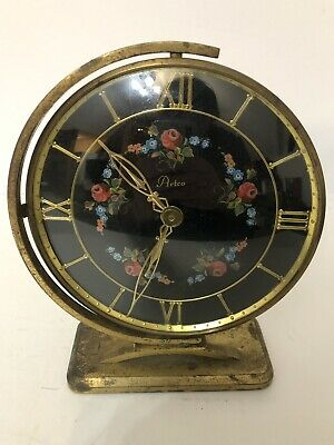 Artco Mid Century Eames Clock Floral Dial with Gimbel Swivel Mount, used for sale  Beaver Falls