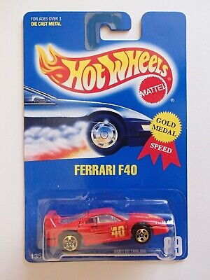 Hot Wheels Blue Card FERRARI F40 #69 5SP gold medal speed