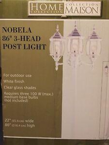 Noma Outdoor 3-Head Post outdoor lights