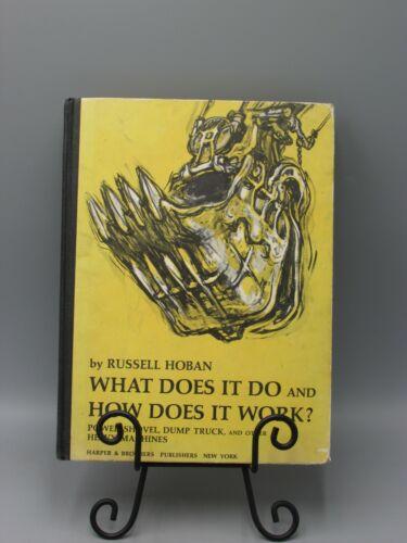 1959 WHAT DOES IT DO HOW DOES IT WORK HEAVY EQUIPMENT HOBAN ILLUST 1ST ED bk4492