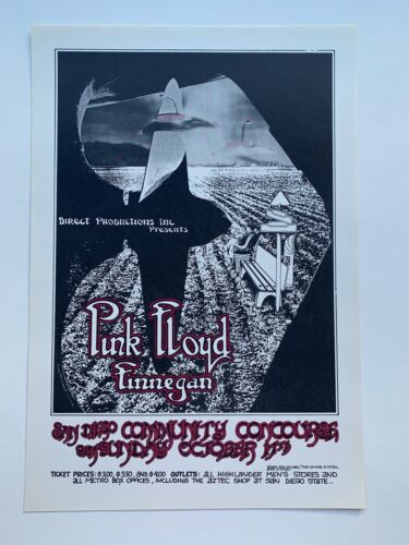 Pink Floyd Original Concert Poster at the San Diego Community Concourse