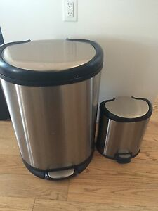 BIG AND SMALL GARBAGE CANS