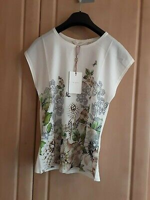 New Ted Baker Crew Neck Tee Top Size Uk 6-12 RRP £59.00