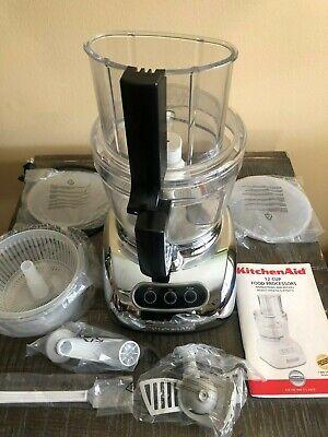 KitchenAid KFPW760WH 700-Watt 12-Cup Food Processor, Silver
