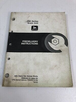 John Deere Jd 750 Series Grain Drill Predelivery Instructions Manual Pdin200119