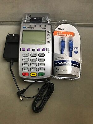 Verifone Vx520 M252-753-03-naa-3 Dial Eth Credit Card Machine Charger Cable