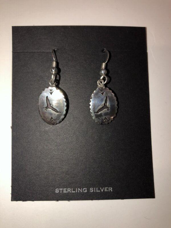 Boy Scout Woodbadge Eagle Sterling Silver Earrings