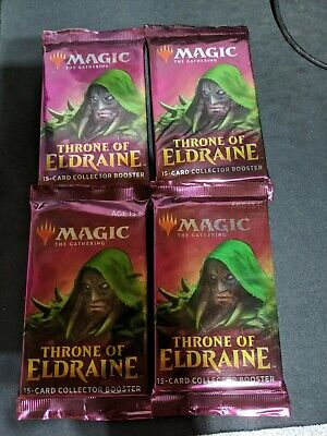MTG Magic the Gathering Throne of Eldraine Collectors Booster Pack X4 FAST SHIP