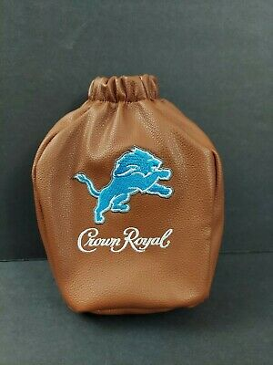 Crown Royal Detroit Lions Special Edition Leather Bottle Bag 750 ML New..