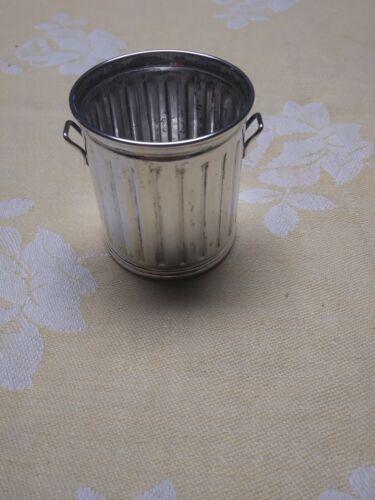 Vintage Sterling Silver Garbage Can Toothpick Holder - $49.99