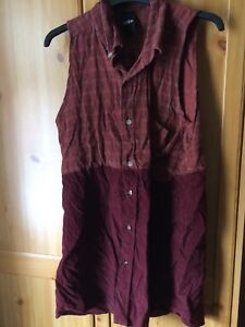 Flannel dress shirt size 8 Deep vintage, indie, hipster, grunge
