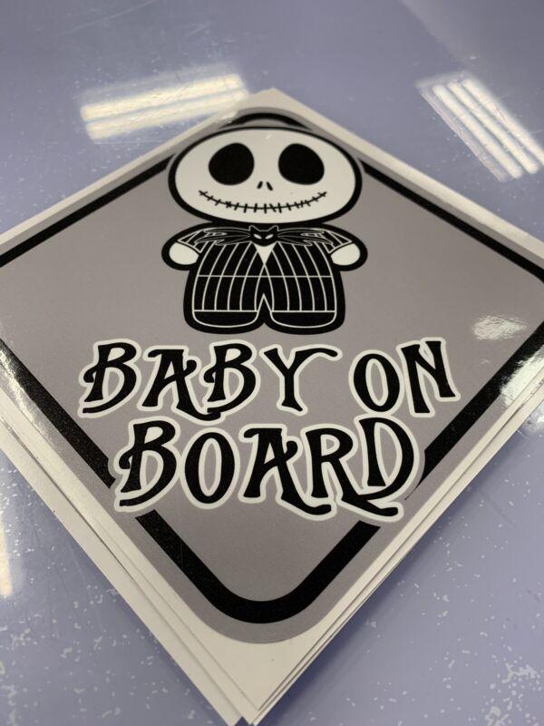Baby On Board Warning Jack Skellington Nightmare Before Christmas Sticker