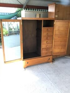 Retro vintage awesome timber cupboard-Pending
