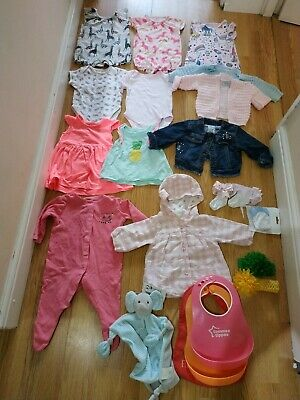 BABY GIRL SUMMER CLOTHES BUNDLE 3-6 MONTHS NEXT AND PRIMARK