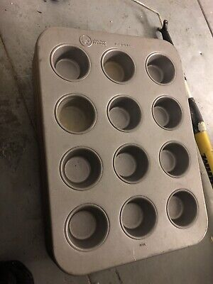 Lot Of 7 Heavy Duty 12-cup Commercial 12x18 Large Muffin Baking Bakery Oven Pans