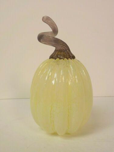 "Kosta Boda Sweden Art Glass 6.75"" Melon Figurine"