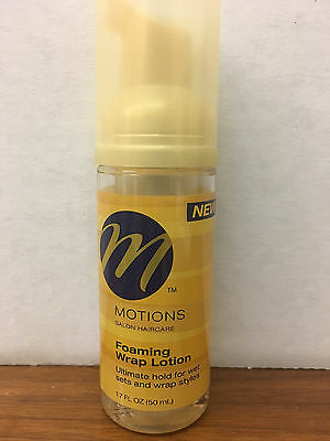2x 1.7oz Motions Salon Haircare FOAMING WRAP LOTION Ultimate hold wet sets Hair ()