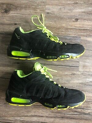 Nike Air Max 95 Volt Mens Size 10 Sneakers Black Neon 609048-090 Shoes Green