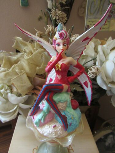 Anne Stokes Sugarsweet Fairy Figurine Ice Cream Sundae NEW in Box Retired!
