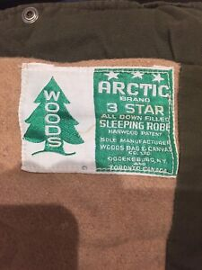 Excellent condition vintage Woods 3Star sleeping bag