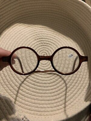 +3.00 Reading Glasses, Brown, Wrap Around, Sized For Child Or Small (Reading Glasses For Children)
