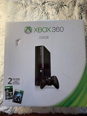 Microsoft Xbox 360 Slim 250 GB Bundle New Console Cords Games **NO Controller**
