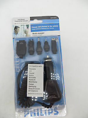 Philips Auto 12v Cell Phone Charger Adapter LG Nextel Nokia Motorola Samsung Philips Auto Adapter