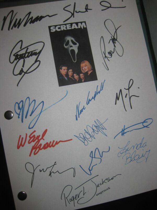 Scream   Signed Film Script X14 Wes Craven Neve Campbell Skeet Ulrich 1996 REPNT