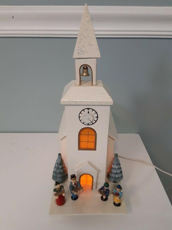 Vintage German Wooden Church With Choir Musical Silent Night