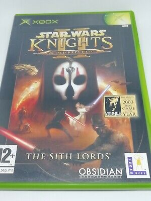 Microsoft XBOX Original Star Wars Knights Old Republic II 2 The Sith Lords Game