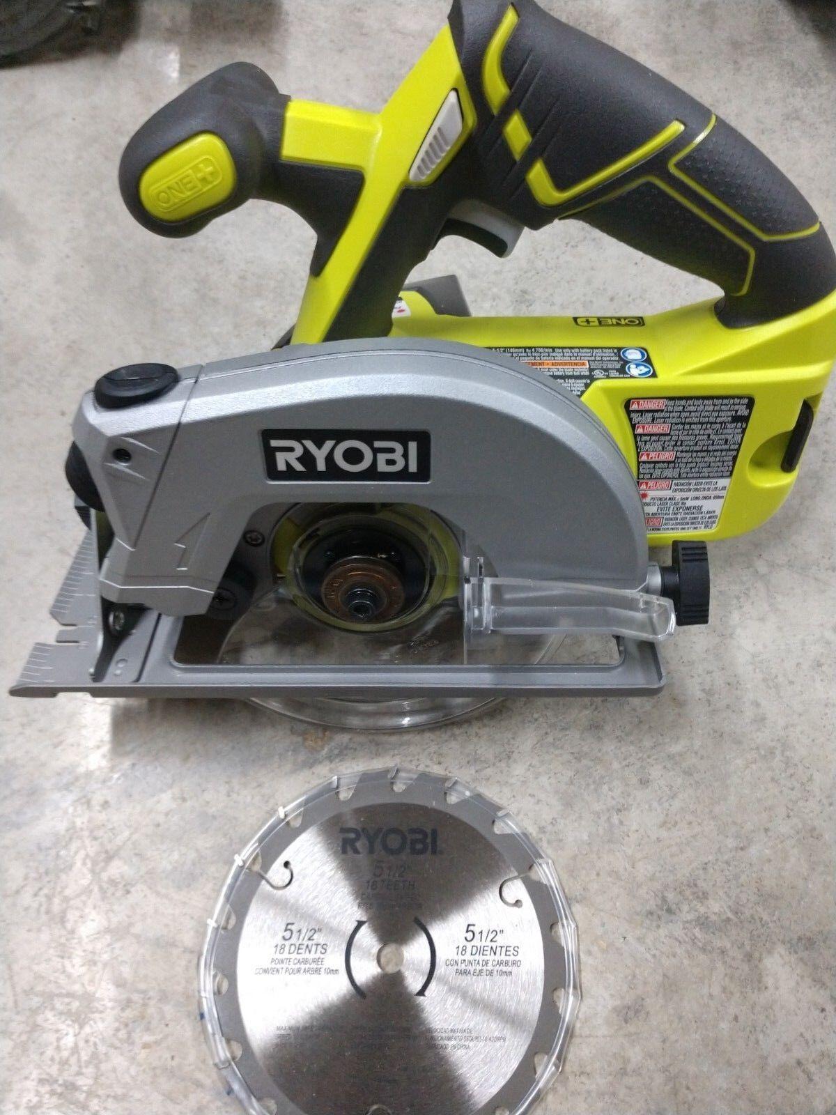 "BRAND NEW Ryobi 18V 5 1/2"" Cordless Circular Saw Model# P506"