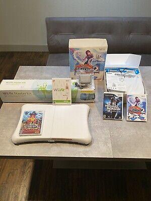Nintendo Wii Fit with Balance Board, Yoga Mat & Game Bundle Dance Revolution.