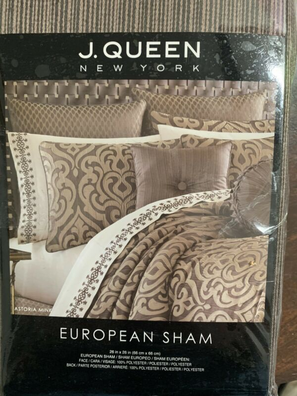 2- J.queen new york european shams Euro Sham Astoria Mink