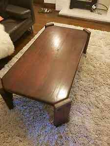 Large timber coffee table Edgecliff Eastern Suburbs Preview