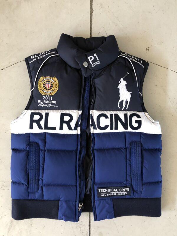 New Polo Ralph Lauren Boys P1 2011 Racing Jacket Vest 10-12 Pony Puffer USA CP93