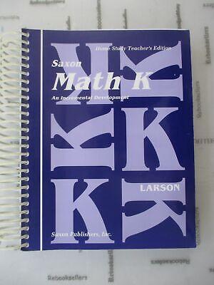 Saxon Math K Homeschool Teacher's Manual 1st Edition by