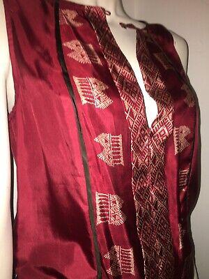 Hoss Intropia Patterned 100% Silk Dress Size 36 Aztec