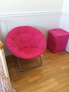 Chaise / pouf rose