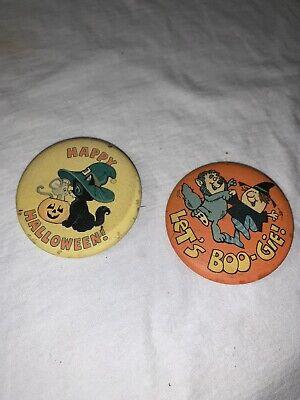 Vintage Halloween Pins (Vintage Halloween Hallmark Button Pins)