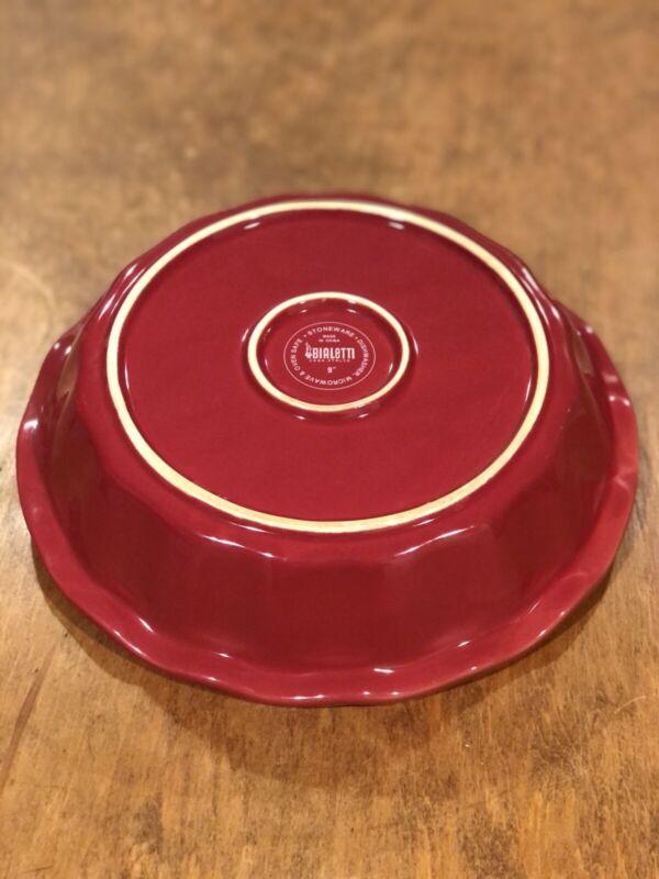 "Bialetti 9"" Stoneware Deep Dish Pie Plate Red White Bialetti Casa Italia"