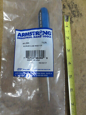 Armstrong 66-255 Round Cabinet Screwdriver Slotted 1/8