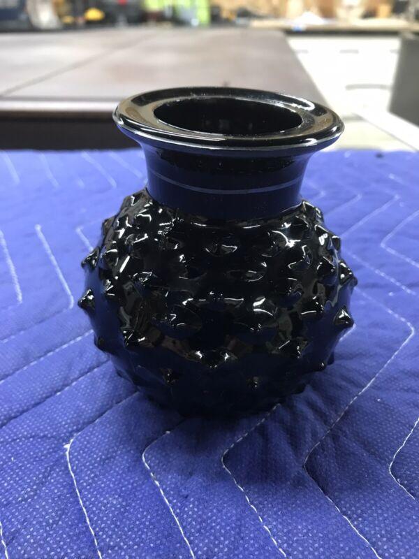 Vintage Black Amethyst Glass Vase