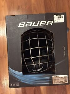 NEW Bauer large black helmet with cage