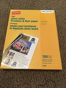 Brochure and flyer paper