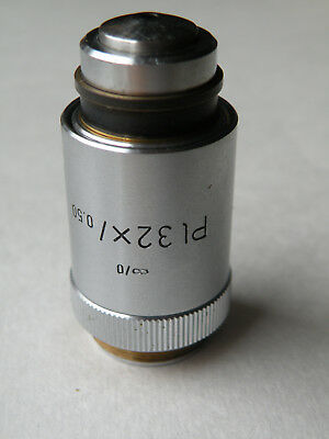 Leitz Wetzlar Microscope Objective Pl 32x 0.50 Inf. 0