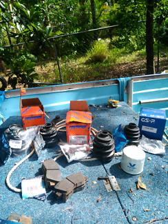 Brake pads, cv boot Kit, oil filter 1992 mitzubishi Triton