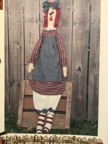 PATTERN Large Raggedy Ann Doll Easy to Make UNCUT OOP By the Garden Gate RARE