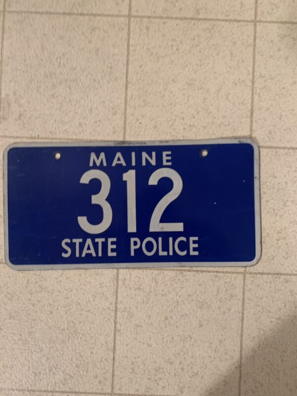 MAINE 312 STATE POLICE OBSOLETE LICENSE PLATE TROOPER SHERIFF PATROL