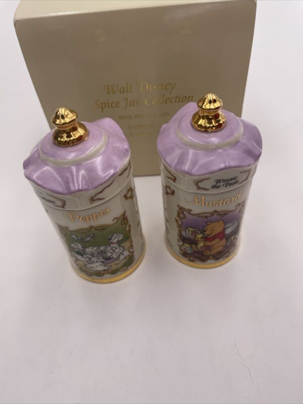 1995 Lenox Walt Disney Spice Jar Collection  Winnie The Pooh 101  Mustard Pepper