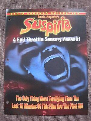 Suspiria Pressbook Video Store Promo Ad 1977 Dario Argento demons inferno horror
